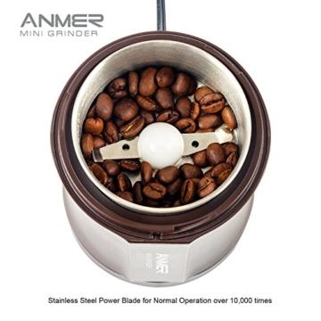 ANMER CG 8120 elektrische kaffeemühle zum mahlen von Kaffee, Nüsse und Gewürze - Kraftvolle 200 Watt für 20 Sekunden zum mahlen, Messer aus hochwertigem rostfreiem Stahl -