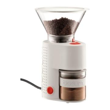 Bodum Elektrische Kaffeemühle Bistro (Kegelmahlwerk, Verschiedene Mahlstufen, 160-Watt) cremefarben -