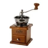 Jahrgang Handbuch Kaffeemühle Keramischer konischer Grat Tragbar Handkurbel Kaffeemaschine(Braun) -
