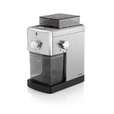 WMF STELIO Kaffeemühle Edition, Scheibenmahlwerk aus Stahl, für Kaffee und Espresso, cromargan matt/silber -